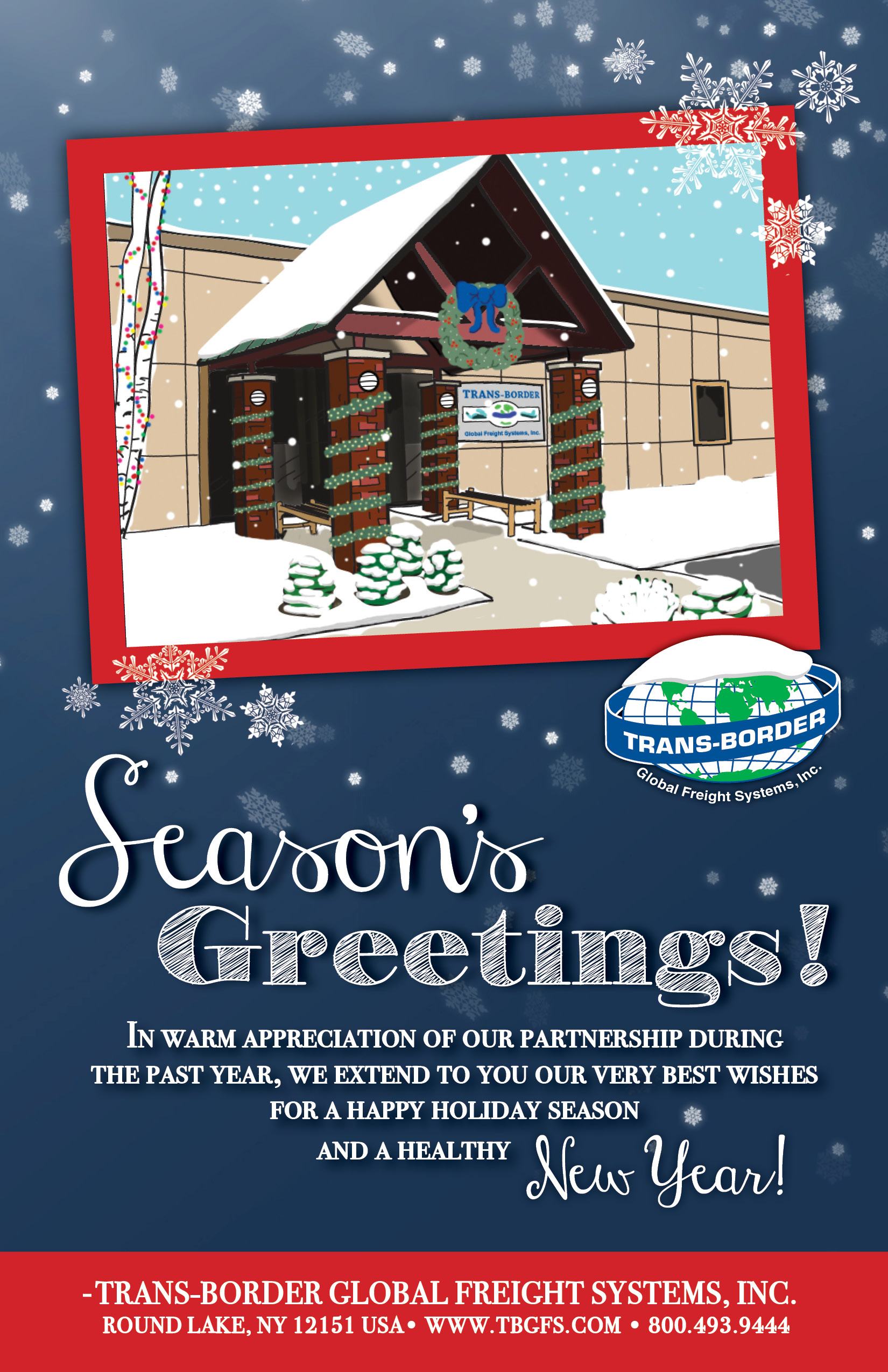 Seasons greetings trans border global freight systems inc christmas card examples kristyandbryce Gallery